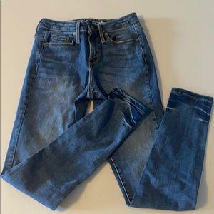 Mossimo high rise skinny jeans 00 - EUC